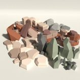 Low Poly Rock Pack free VR / AR / low-poly 3d model