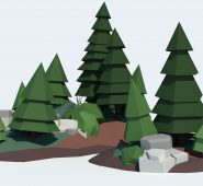 Low Poly Tree Pack Free low-poly 3D model