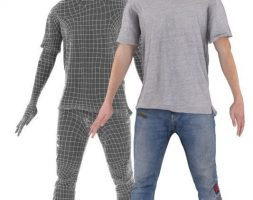 Animated Dancing Man Free low-poly 3D model