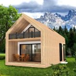 Mountain cabin exterior 3d model Free low-poly 3D model