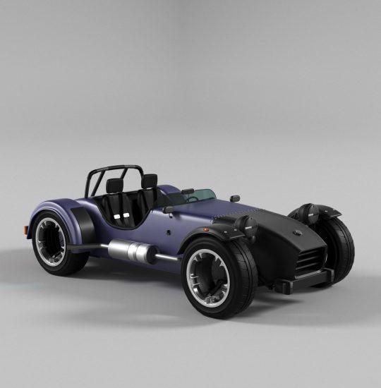 Free Sport Fantasy Car 3D model