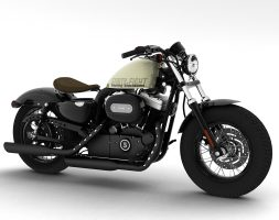 Harley-Davidson XL1200 Sportster Forty-Eight 2014 3D model