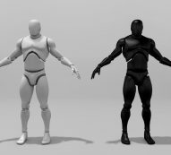 Rigged Characters free VR / AR / low-poly 3d model