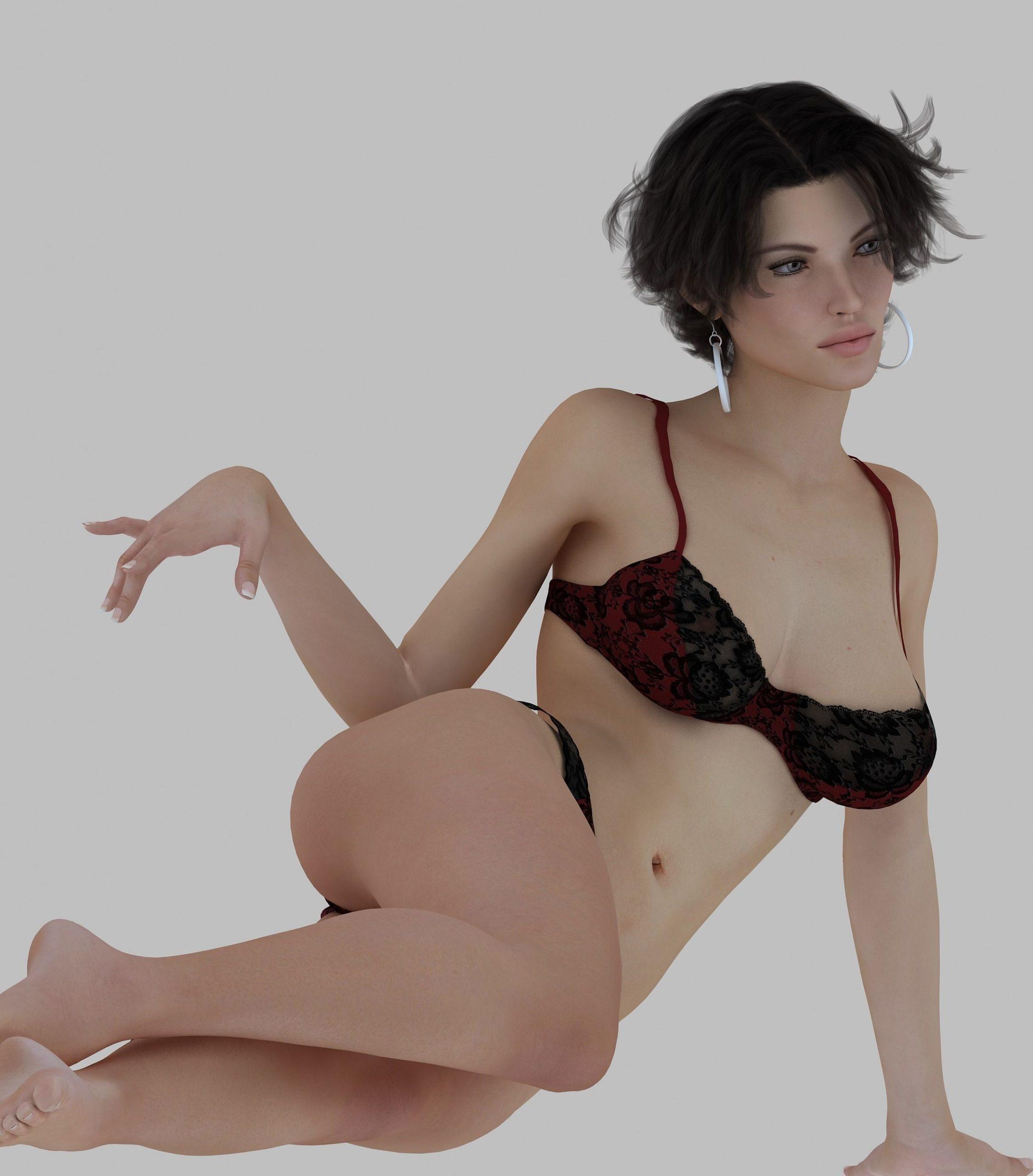 Seductive girl Free 3D model